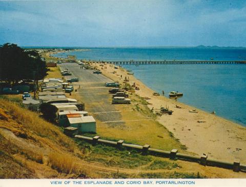 View of the Esplanade and Corio Bay, Portarlington
