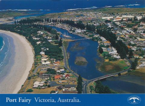 Aerial view of Port Fairy, 2000