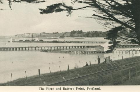 The Piers and Battery Point, Portland, 1948