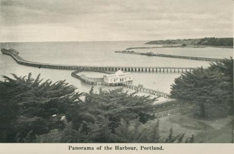 Panorama of the Harbour, Portland, 1948