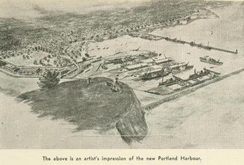 Artist impression of the new Portland Harbour