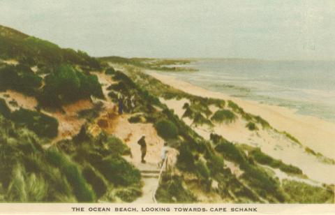The Ocean Beach, looking towards Cape Schank, Portsea