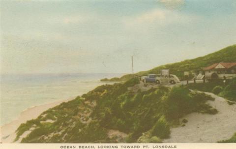 Ocean Beach looking toward Point Lonsdale, Portsea