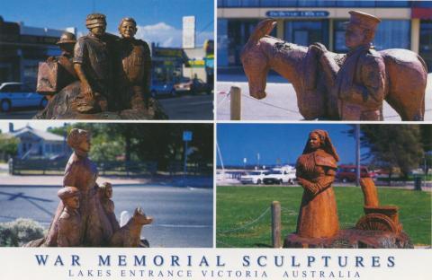 War Memorial Sculptures, The Esplanade, Lakes Entrance, 2006