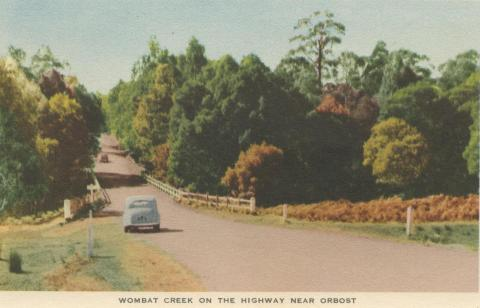 Wombat Creek on the Highway near Orbost, 1948