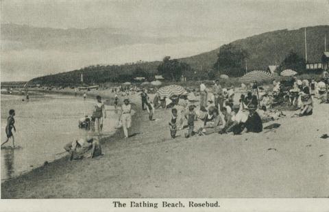 The Bathing Beach, Rosebud, 1942