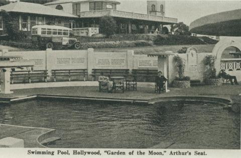 Swimming Pool, Hollywood, Garden of the Moon, Arthurs Seat, 1942