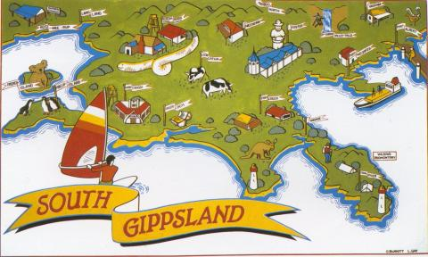 South Gippsland Map