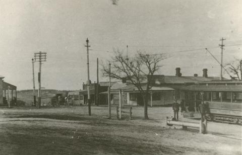 Tram Terminus, Burwood, 1917