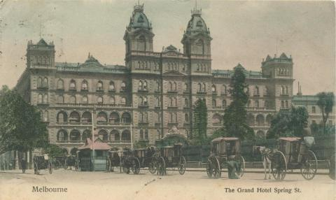 The Grand Hotel Spring Street, Melbourne, 1906