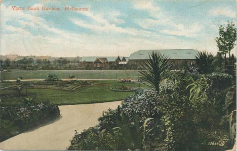 Yarra Bank Gardens, Melbourne, 1907