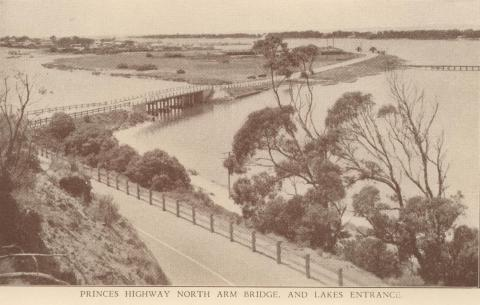 Princes Highway and North Arm Bridge, Lakes Entrance