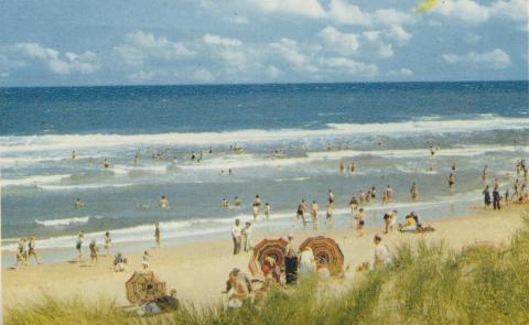 Overlooking the beach, Seaspray, 1975