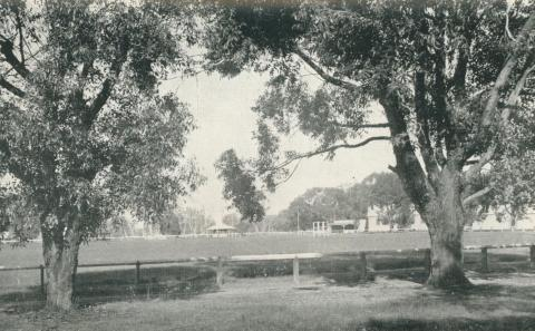 The recreation reserve, Seymour