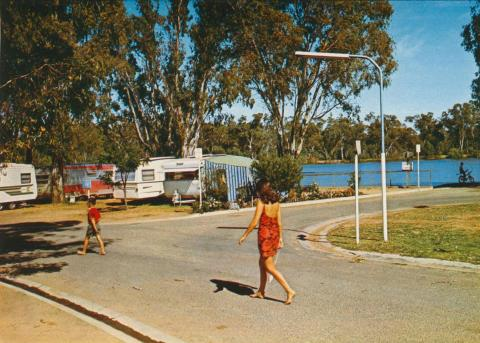 Camping Ground on the edge of Lake Victoria, Shepparton
