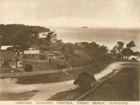 Looking towards Portsea, Front Beach, Sorrento