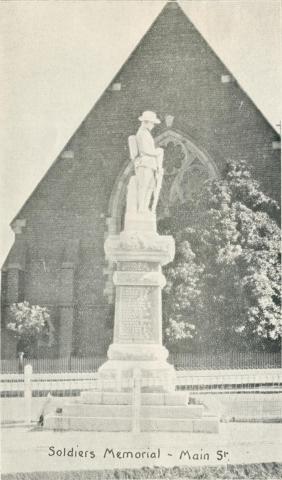 Soldiers Memorial, Main Street, Stawell, 1935
