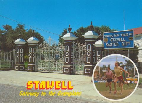 Central Park Memorial Gates and venue of the Stawell Gift, Stawell