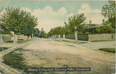 Albany Crescent, Surrey Hills, 1908