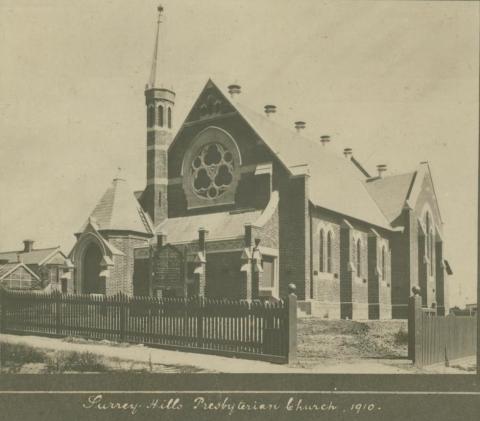 Surrey Hills Presbyterian Church, 1910