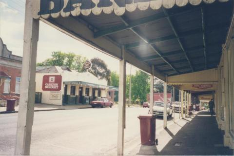 View through Shop Verandahs on High Street, Trentham