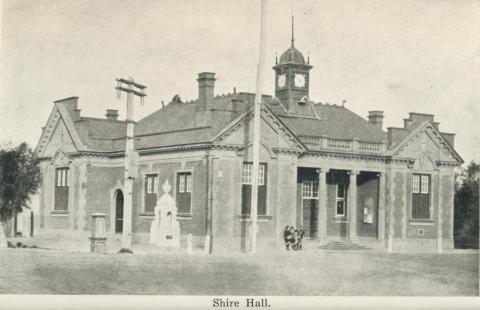 Shire Hall, Warracknabeal, 1925