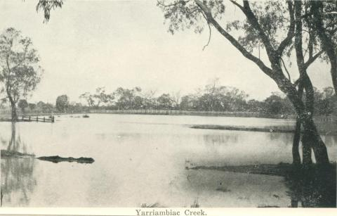 Yarriambiac Creek, Warracknabeal, 1925