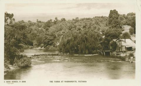 The Yarra at Warrandyte, 1921