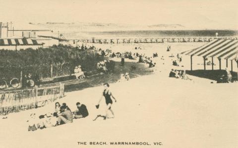 The Beach, Warrnambool, 1945