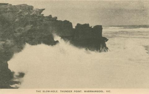 The Blow-Hole, Thunder Point, Warrnambool, 1945
