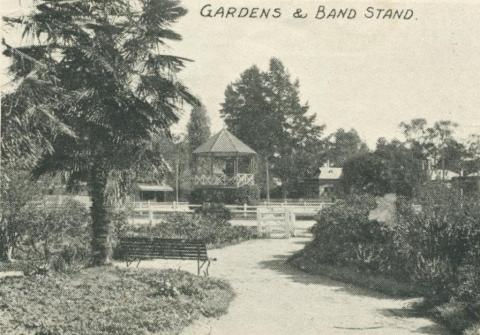 Gardens and Band Stand, Yea