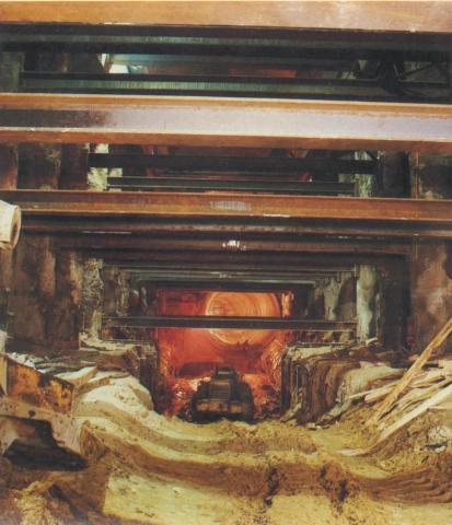Melbourne Underground Rail Loop, under construction 1971-82