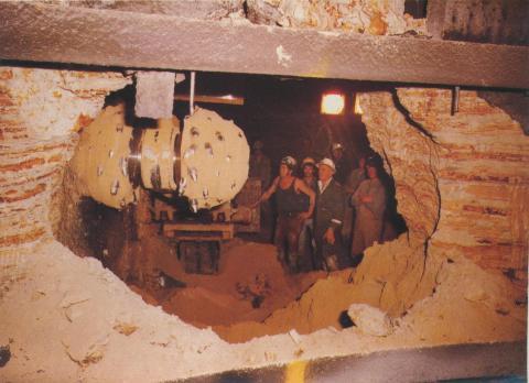 Flagstaff Station, under construction 1971-82
