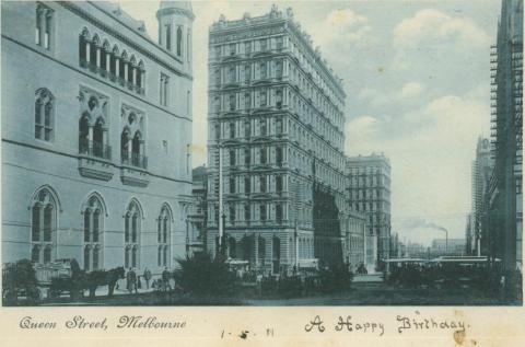 Queens Street, Melbourne, 1911