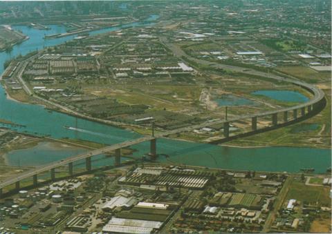 Aerial view of Westgate Bridge, Melbourne