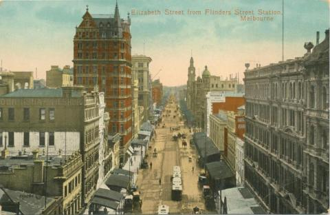 Elizabeth Street from Flinders Street Station, Melbourne