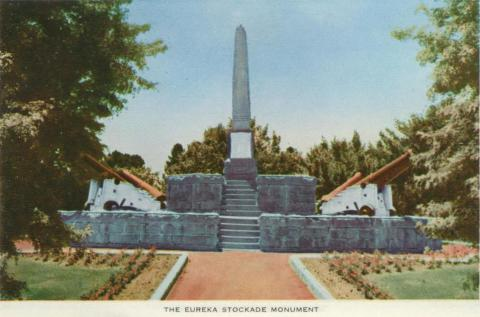 The Eureka Stockade Monument, Ballarat, 1958