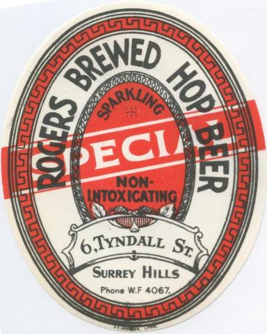 Rogers Brewed Hop Beer, Surrey Hills
