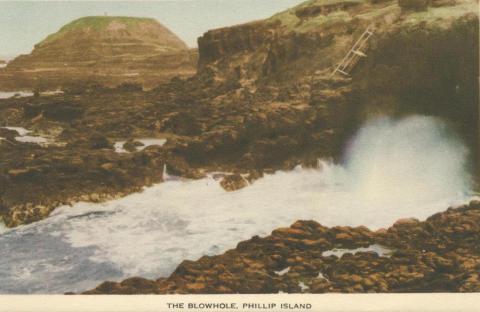 The blowhole, Phillip Island