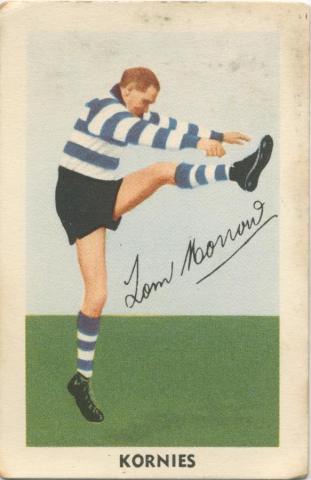 Tom Morrow, Geelong Football Club, Kornies Card