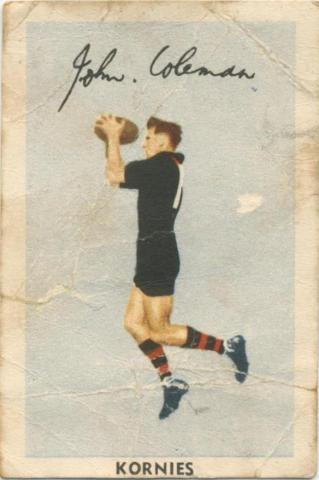 John Coleman, Essendon Football Club, Kornies Card