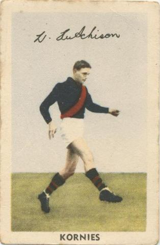 W. Hutchinson, Essendon Football Club, Kornies Card