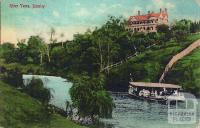 River Yarra, Burnley, c1911