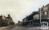 Glenhuntly Road, Elsternwick, c1909. Shops include H. Herenstreit Butcher establ