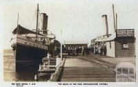 The boats at the pier, Portarlington, c1920