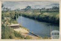 Mitchell River at Bairnsdale Showing the Swimming Pool