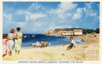 Barwon Heads Beach looking towards the bluff, 1964