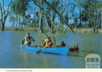 Canoeing along Gunbower Creek, Cohuna