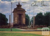 The impressive War Memorial, Colac