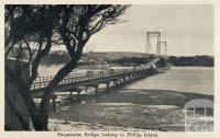Suspension Bridge, looking to Phillip Island, Cowes